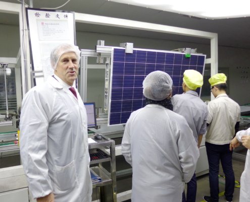 Shanghai, China solar panel production