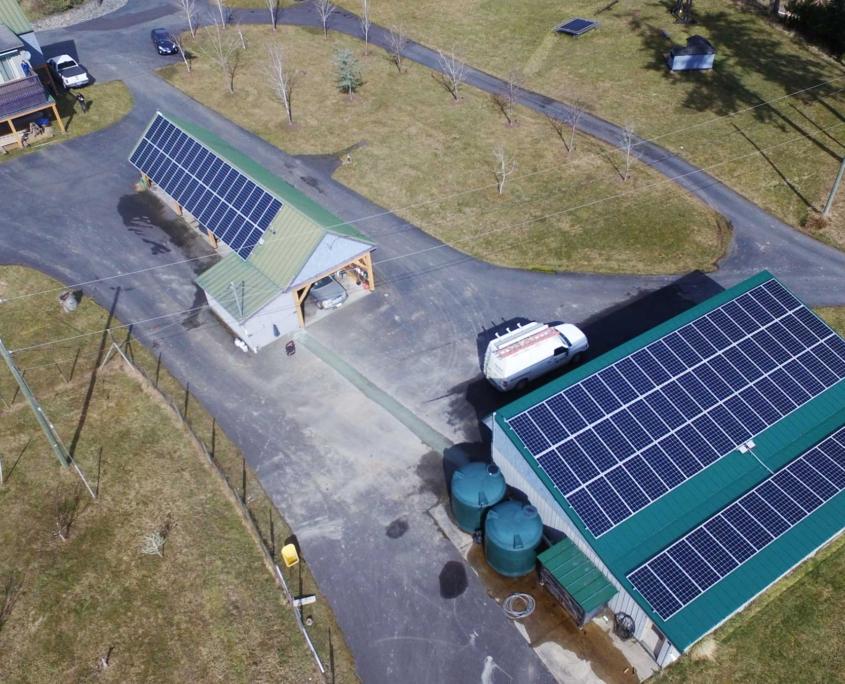 Pender Island solar PV